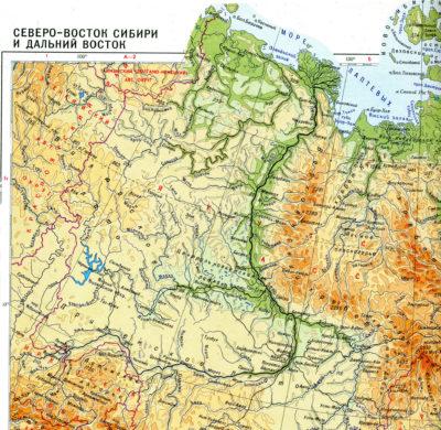 Где находится река Лена?: исток реки на карте