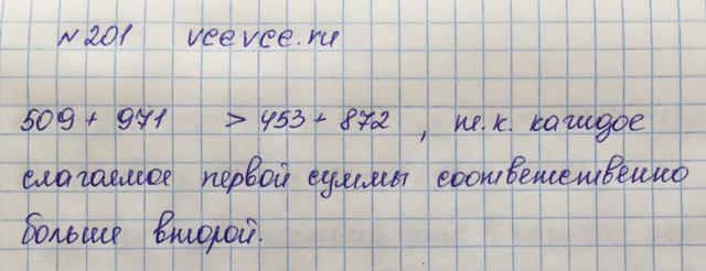 Решение задачи 201 из учебника по математике Виленкин 5 класс