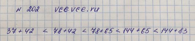 Решение задачи 202 из учебника по математике Виленкин 5 класс