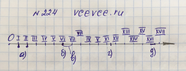Решение задачи 224 из учебника по математике Виленкин 5 класс
