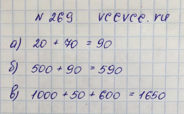 Решение задачи 269 из учебника по математике Виленкин 5 класс