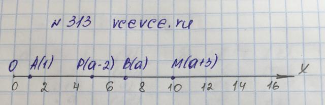 Решение задачи 313 из учебника по математике Виленкин 5 класс