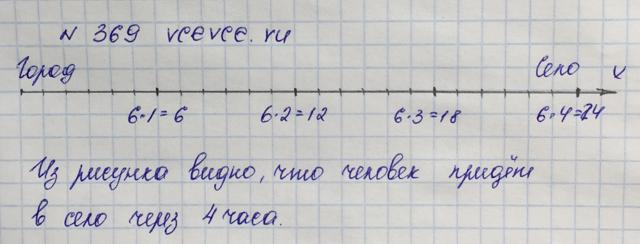 Решение задачи 369 из учебника по математике Виленкин 5 класс