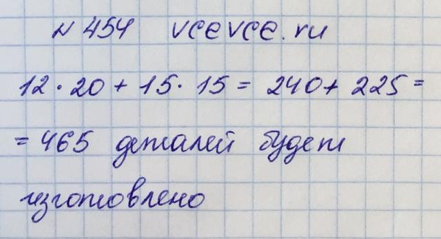 Решение задачи 454 из учебника по математике Виленкин 5 клас