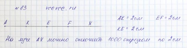 Решение задачи 83 из учебника по математике Виленкин 5 класс
